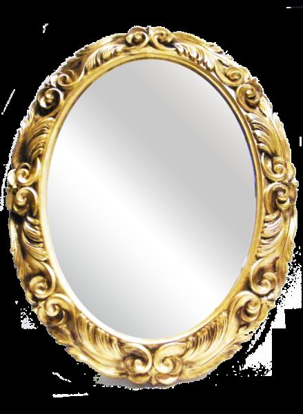 Sp032 specchio ovale con cornice in legno allpe - Specchio con cornice dorata ...