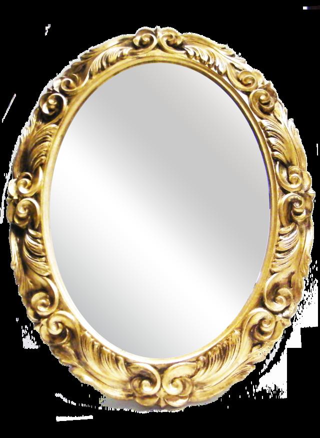 sp032 oval mirror wooden frame allpe
